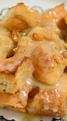 Bread Pudding with Warm Vanilla Sauce