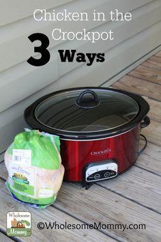 Crockpot Chicken Three Ways *Original, BBQ, Taco*