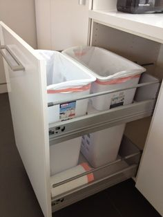 "Non-flimsy full height, 24"" wide recycling and trash cabinet - IKEA Hackers"