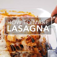 Sunday Dinner Ideas Discover Classic Lasagna This classic lasagna is made with an easy meat sauce as the base. Layer the sauce with noodles and cheese then bake until bubbly! This is great for feeding a big family and freezes well too. Cottage Cheese Lasagna Recipe, Easy Lasagna Recipe With Ricotta, Classic Lasagna Recipe, Best Lasagna Recipe, Homemade Lasagna, Easy Delicious Lasagna Recipe, Homemade Breads, Lasagna Recipe Videos, Lasagne Recipes