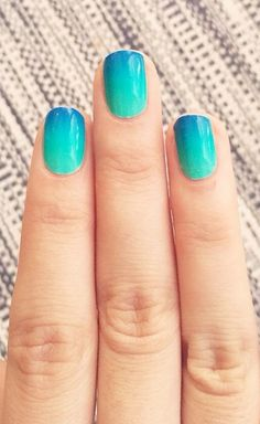 Blue Lagoon Gradient Nail Wrap by NCLA