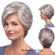 These gorgeous and pretty fashion wig, it tress wigs and top hair wigs zhifan_wig provides here will meet your each requirement for a good z&f short straight hair grey rose hair net synthetic new hairstyles men's natural hair lace wig. Grey Wig, Short Grey Hair, Short Hair With Bangs, Short Straight Hair, Short Hair Cuts, Short Hair Styles, Natural Hair Styles, Hair Bangs, Older Women Hairstyles