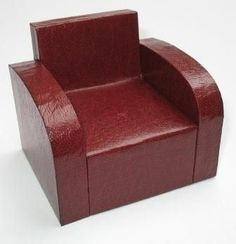 Dolls House Upholstery in Miniature Part 6 - Using leatherette paper - Misc Projects - Dolls House & Miniature Scene Magazine - Hobbies And Crafts