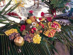 Pique-nique Motu à Tahiti.