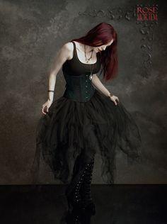 Romantic Gothic Skirt: Cosette Tulle Skirt by Rose Mortem. I'm a sucker for tattered netting. Well, any netting, really.