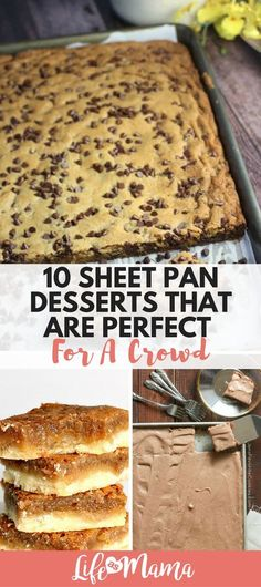 some sweets to feed several guests? These sheet pan desserts will get the j Need some sweets to feed several guests? These sheet pan desserts will get the j. -Need some sweets to feed several guests? These sheet pan desserts will get the j. Cooking For A Crowd, Desserts For A Crowd, Köstliche Desserts, Food For A Crowd, Crowd Recipes, Budget Recipes, Easy Cheap Desserts, Healthy Desserts, Meal Recipes