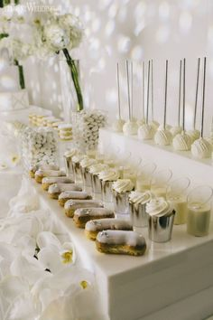 white wedding cakes All-White Wedding Sweet Table Ideas White Party Foods, All White Party, All White Wedding, White Wedding Cakes, Cake Wedding, White Weddings, Indian Weddings, Purple Wedding, Gold Wedding