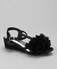 Take a look at the Black Natala Wedge Sandal on #zulily today!