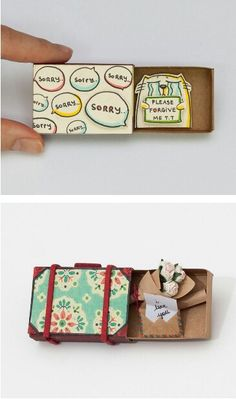 Ideas gifts for him xmas for him Matchbox Crafts, Matchbox Art, Diy Presents, Diy Gifts, Idees Cate, Tarjetas Diy, Bday Gifts For Him, Background Diy, Pinterest Diy