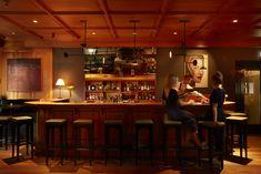Wein Bar Kaminzimmer Kunst Hotel Restaurant Gasthof Hirschen Schwarzenberg Bregenzerwald Vorarlberg Austria Copyright: Adolf Bereuter Restaurant, Bar, Interior, Table, Furniture, Home Decor, Formal Gardens, Places, Ideas