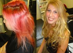 BEFORE AND AFTER PICTURES 1 DAYS WORK X TERRY DUNN HAIRDRESSING  UK  01698 321068