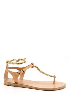 Natural Chrysso Sandal by Ancient Greek Sandals Now Available on Moda Operandi