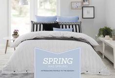 Linen Bedding, Bed Linen, Spring Has Sprung, Quilt Cover Sets, Comforters, Choices, Designers, Pastel, Blanket