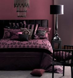 Linen House Queen Bed Quilt Cover Set CHATELET PLUM New