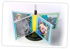 Upgrade CD Cases into a Spinning Photo Frame