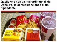 Angeloweb: (VIDEO) Quello che non va mai ordinato al Mc Donal...