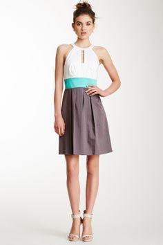 cutout halter dress