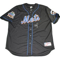 Mike Piazza Signed Black Mets Authentic Jersey (MLB Auth)