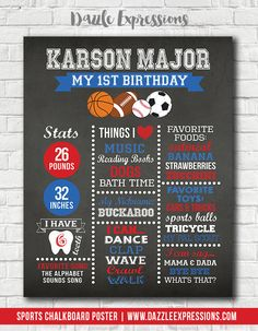 67 Ideas For Basket Ball Birthday Party Invitations Shops 1st Birthday Boy Themes, Ball Birthday Parties, Sports Birthday, Baseball Birthday, Boy First Birthday, Birthday Ideas, Happy Birthday, 1st Birthday Chalkboard, Birthday Party Invitations