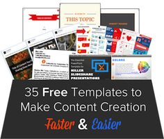 35 #FreeTemplates to Make #ContentCreation Faster & Easier. Like and share to your friends!