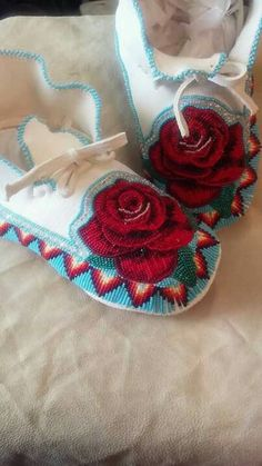 I need these for my Aleena Rose Powwow Beadwork, Indian Beadwork, Native Beadwork, Native American Beadwork, Seed Bead Patterns, Beading Patterns, Beading Ideas, Beaded Moccasins, Beaded Shoes