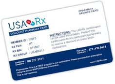 FREE USA Rx Discount Pharmacy Card