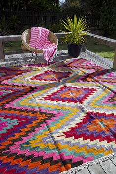 La Couleur Par Le Sol · Patio RugsOutdoor RugsOutdoor SpacesColorful ...