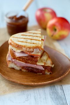 ham & apple butter panini