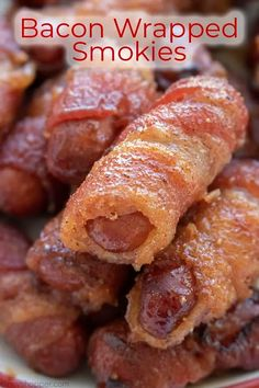 Easy Appetizer Recipes, Yummy Appetizers, Appetizers For Party, Yummy Recipes, Cocktail Weenies, Bacon Wrapped Little Smokies, Tasty, Yummy Food, Dish