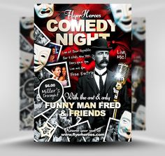 Free Comedy Night Flyer Template