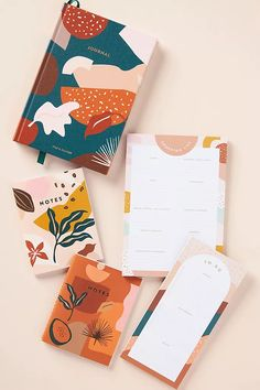 To Do List Pad, Notebook Cover Design, Cool Notebooks, Journals, Decoration Plante, Cute Stationary, Pocket Notebook, Book Layout, Stationery Design