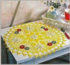 Heklanje plus: Šema 146 - Salveta ukrašena sitnim cvjetovima