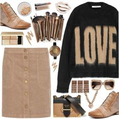 How To Wear Love Neutrals Outfit Idea 2017 - Fashion Trends Ready To Wear For Plus Size, Curvy Women Over 20, 30, 40, 50