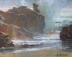 David C. Gallup fine artist sold paintings, shark paintings, wildlife art, malibu art, coastal paintings, underwater paintings, bait ball paintings.