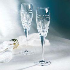 Personalized Galway Irish Crystal Champagne Flutes $48.00 Walmart