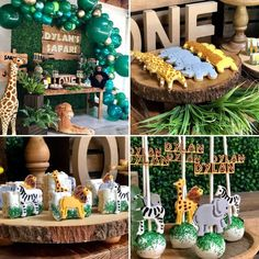 Safari First Birthday Candy Dessert Table by Wood Sign by Decretive Cookies Safari Party, Safari Candy Table, Safari Theme Birthday, Boys First Birthday Party Ideas, Wild One Birthday Party, Baby Boy First Birthday, Birthday Candy, Boy Birthday Parties, Birthday Photos