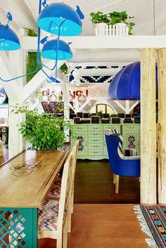 _MG_2169_70_71 kassadesign design interior interiordesign restaurantdesign restaurantinterior decoration décor furniture horeca light woodwork furniture architecture  ethnic woods  glass tile tiling ceramic ceramictile paint painting textiles velvet colorful ukraine