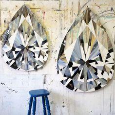 South African artist Kurt Pio's larger than life diamond paintings.
