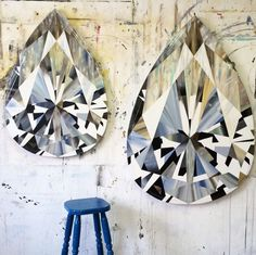 Holy moly, I'm obsessedwith South African artist Kurt Pio's larger than life diamond paintings. Many moonsago, while enrolled in the jewelry design program at FIT, I spent hours upon hours learning how to paintdiamonds usinggouache on paper - and let me tell you, all those fragmented facets