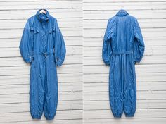 1980s Blue Skirwear Onepiece Snow Suit by Jet Set by CoverVintage, $69.00