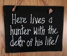 Hunting hunter wood sign fathers day man cave by kpdreams on Etsy, $7.99