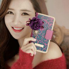 Henna Handmade Wallet Case - Purple
