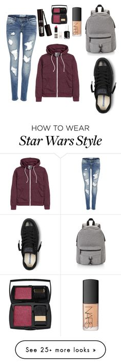 """Outfit"" by emily-emily869 on Polyvore featuring Converse, Rebecca Minkoff, NARS Cosmetics, Lancôme, Essie and Topshop"
