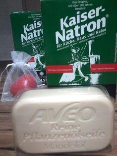 HOLSTE  KAISER NATRON - 250 g (5x50 g)  +  Pflanzenöl SEIFE MANDELÖL 100g