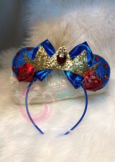 Handmade Descendants Evie inspired Minnie Ears headband, Disney, Mickey Ears, Princess, Disneyland birthday, Snow White, Evil queen by CharmedBySam on Etsy https://www.etsy.com/listing/587561643/handmade-descendants-evie-inspired