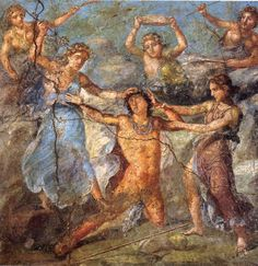 Pentheus being torn limb from limb by the Bacchantes    House of the Vettii    Pompeii, Italy    1st century A.D.