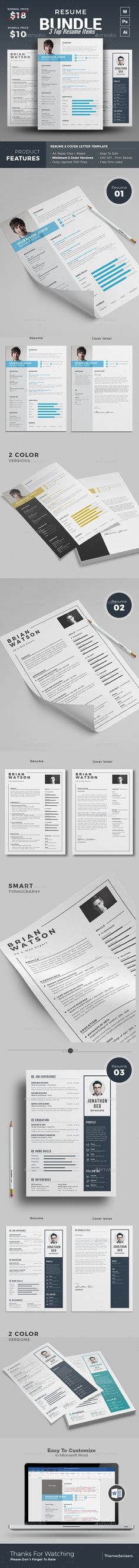 Resume Word Bundle Resume cv - resume template download microsoft word