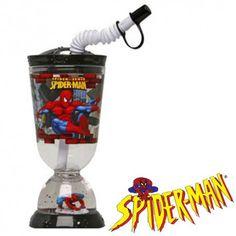 Vaso Base con Pajita Spiderman 275 ml - Regalos al Mejor Precio