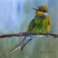"Daily+Paintworks+-+""Swallow+Tailed+Beeeater""+-+Original+Fine+Art+for+Sale+-+©+Janet+Graham"