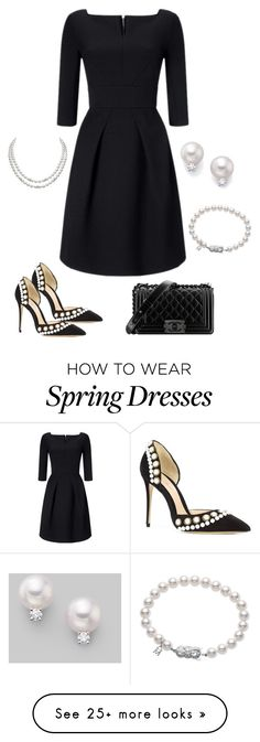"""""""Untitled #731"""" by ladyspartan on Polyvore featuring Roland Mouret, Monique Lhuillier, Mikimoto and Chanel"""